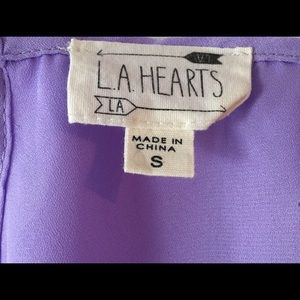 La Hearts Tops - LA HEARTS SCALLOP-EDGE OPEN BACK TANK